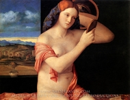Young Woman at her Toilet painting reproduction, Giovanni Bellini