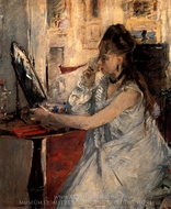 Young Woman Powdering Herself painting reproduction, Berthe Morisot