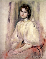 Young Woman Seated painting reproduction, Pierre-Auguste Renoir