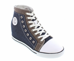 CALDEN - K882896 - 3.8 Inches Taller (Blue & Grey) - High Top Sneaker