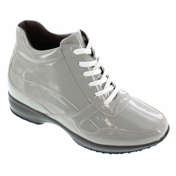 CALTO - G65231 - 3.2 Inches Taller (Off Grey Patent) - Lightweight
