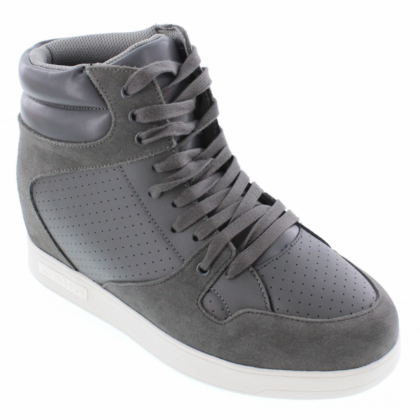 CALTO - H11283 - 2.6 Inches Taller (Slate Grey) - Size 7 / 8 / 9 / 10 Only