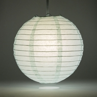 Arctic Spa Blue Round Even Ribbing Paper Lanterns