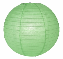 "12"" Cool Mint Green Round Paper Lantern, Even Ribbing, Hanging (Light Not Included)"