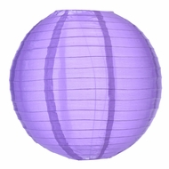 "10"" Dark Purple Nylon Lantern, Even Ribbing, Durable, Hanging (Light Not Included)"