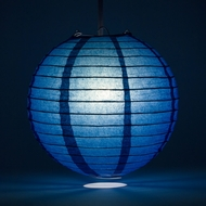 "4"" Navy Blue Round Paper Lantern, Even Ribbing, Hanging (10 PACK) Decoration"