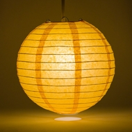 Papaya Round Even Ribbing Paper Lanterns