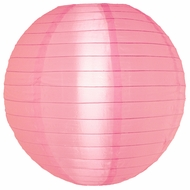"10"" Pink Nylon Lantern, Even Ribbing, Durable, Hanging (Light Not Included)"