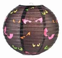 "BLOWOUT 10"" Scary Eyes Halloween Paper Lantern"
