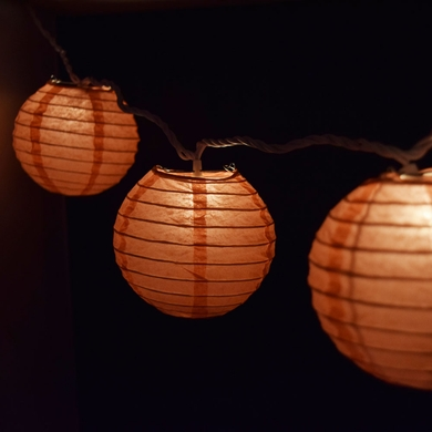 10 Socket Roseate Pink C Round Paper Lantern Party String Lights 4 Lanterns From Paperlantern At The Best Bulk Whole Prices