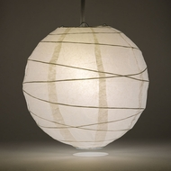 White Crisscross Ribbing Paper Lanterns