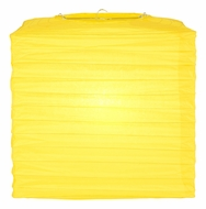 "10"" Yellow Square Shaped Paper Lantern"