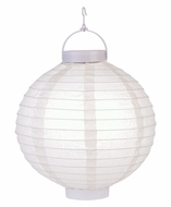 "12"" Beige 16 LED Round Battery Operated Paper Lantern w/ Built-in Light-Up Switch"
