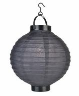 "12"" ""Budget Friendly"" Battery Operated LED Paper Lantern - Black"