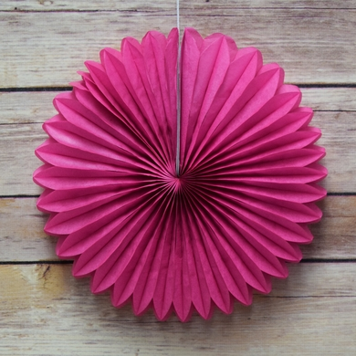 12 fuchsia hot pink tissue paper flower rosette fan decoration 6 12 fuchsia hot pink tissue paper flower rosette fan decoration 6 pack mightylinksfo