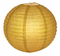 "12"" Gold Glitter Round Paper Lantern, Hanging Decoration"