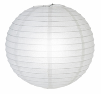 "12"" White Glitter Round Paper Lantern, Hanging Decoration"