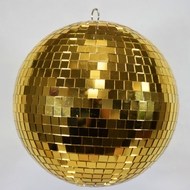 "12"" Gold Disco Mirror Ball for Dance Party"