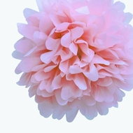 "EZ-Fluff 12"" Light Pink Tissue Paper Pom Poms Flowers Balls, Decorations (4 PACK)"