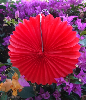 12 red tissue paper pinwheel decoration 6 pack hanging decor for 12 red tissue paper flower rosette fan decoration 6 pack mightylinksfo