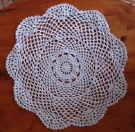 "11.5"" Round Shaped Crochet Lace Doilies Placemats, Handmade Cotton - White (2 PACK)"