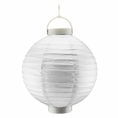 12 Silver 16 Led Round Battery Operated Paper Lantern From Paperlantern At The Best Bulk Whole Prices