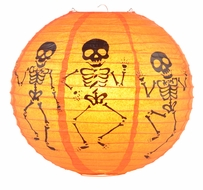"12"" Skeleton Halloween Paper Lantern"