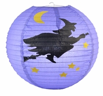 "14"" Flying Witch Halloween Paper Lantern"