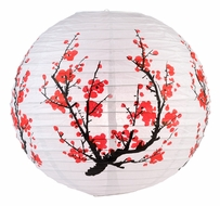 "14"" Japanese Plum Tree Paper Lantern"