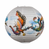 "14"" Phoenix Chinese Wedding / New Year Paper Lantern"