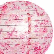 "14"" Round Patterned Paper Lanterns"