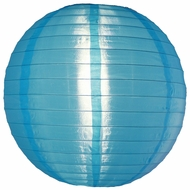 "14"" Sky Blue Nylon Lantern, Even Ribbing, Durable, Hanging Decoration"