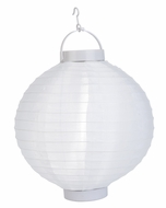 "14"" White 16 LED Round Battery Operated Nylon Lantern"