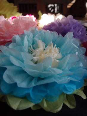 16 multi color tissue paper flower decorations turquoise combo 3 16 turquoise blue multi color tissue paper flower decorations 3 pack ez fluff mightylinksfo