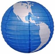 "16"" World Earth Globe Paper Lantern"