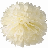 "EZ-Fluff 12"" Beige Tissue Paper Pom Poms Flowers Balls, Decorations (4 PACK)"