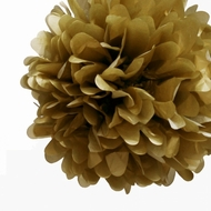 "EZ-Fluff 12"" Gold Tissue Paper Pom Poms Flowers Balls, Decorations (4 PACK)"