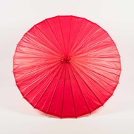 "28"" Red Paper Parasol Umbrella"