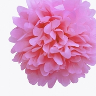 "EZ-Fluff 12"" Pink Passion Tissue Paper Pom Poms Flowers Balls, Decorations (4 PACK)"