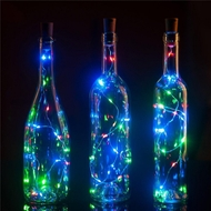 20 RGB LED Cork Wine Bottle Lamp Fairy String Light Stopper, 40-Inch