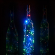 20 RGB Multi-Color LED Cork Wine Bottle Lamp Fairy String Light Stopper, 38-Inch (1pc)