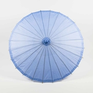 "28"" Serenity Blue Paper Parasol Umbrella for Weddings and Parties"