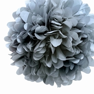 "EZ-Fluff 20"" Silver Tissue Paper Pom Poms Flowers Balls, Decorations (4 PACK)"