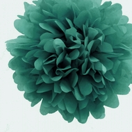 "EZ-Fluff 20"" Teal Green Tissue Paper Pom Poms Flowers Balls, Hanging Decorations (4 PACK)"