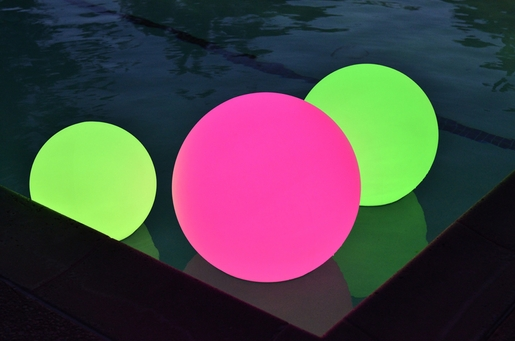 """20"""" Ultra Color Changing Waterproof Floating LED Rainbow Orb"""
