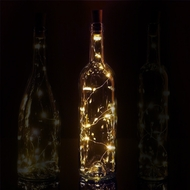 20 Warm White LED Cork Wine Bottle Lamp Fairy String Light Stopper, 38-Inch (1pc)