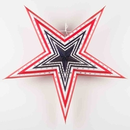 "24"" 4th of July Patriotic Paper Star Lantern, Hanging Decoration"
