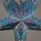 "24"" Pale Turquoise Lotus Glitter Paper Star Lantern, Hanging Decoration"