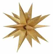 "24"" Moravian Gold Glitter Multi-Point Paper Star Lantern Lamp, Hanging Decoration"