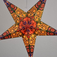 "24"" Multi-Color Garden Paper Star Lantern, Hanging Decoration"